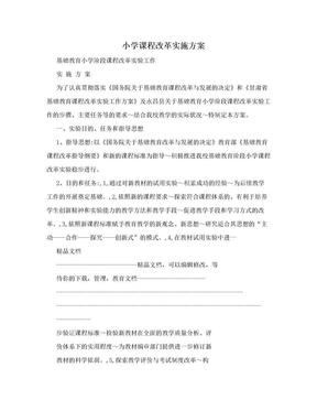 小学课程改革实施方案.doc