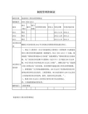基建项目工程合同管理规定.doc