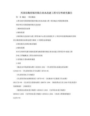 兴国县梅窖镇圩镇自来水改建工程可行性研究报告.doc