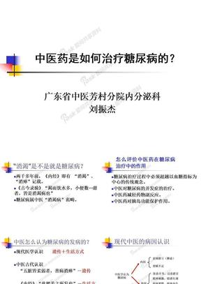 宣教-糖尿病中医药治疗.ppt
