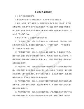 会计报表编制说明.doc