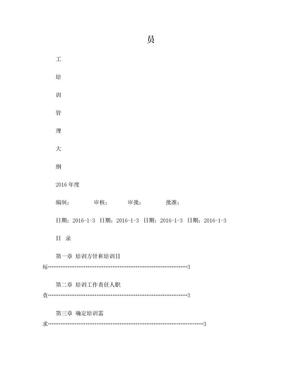 员工培训大纲(2016年版).doc