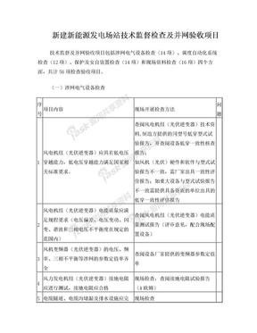 新建新能源发电场站并网验收大纲(1).doc
