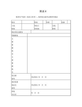 优秀共产党员推荐审批表.doc