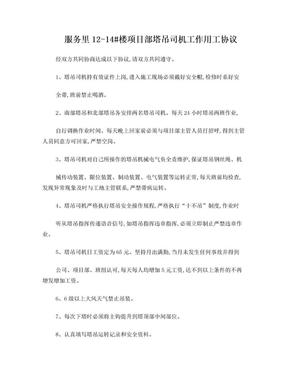 塔吊司机制度及工作管理办法.doc