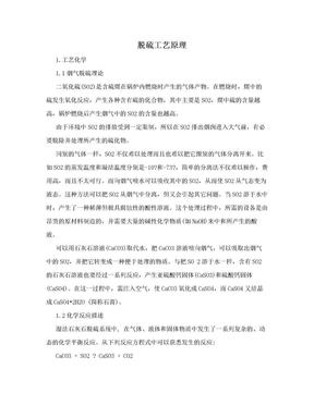 脱硫工艺原理.doc