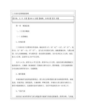 三十岗乡总体规划说明.doc