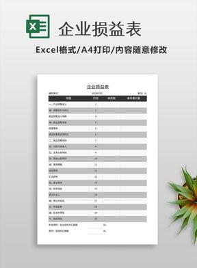 企业损益表.xls