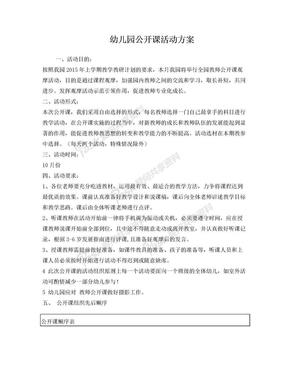 幼儿园公开课活动方案.doc