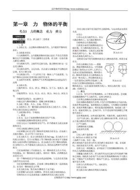江苏省高三物理一轮复习资料:力 物体的平衡.doc