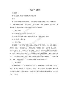 残联实习报告.doc
