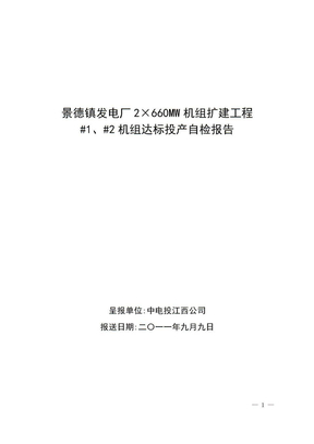 景德镇项目达标投产自检报告(正式).doc