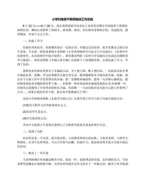 小学村级骨干教师培训工作总结.docx