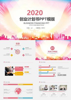 高端大气创业商业融资计划书PPT模板