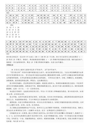 1舒尔特表格(注意力练习).doc