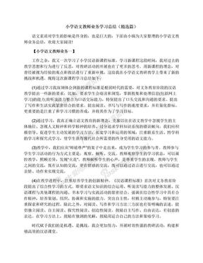 小学语文教师业务学习总结(精选篇).docx