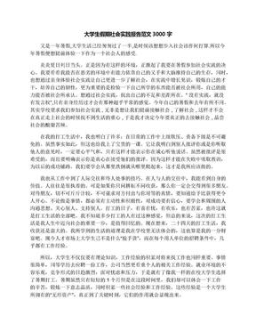 大学生假期社会实践报告范文3000字.docx
