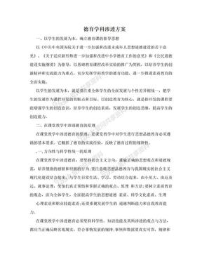 德育学科渗透方案.doc