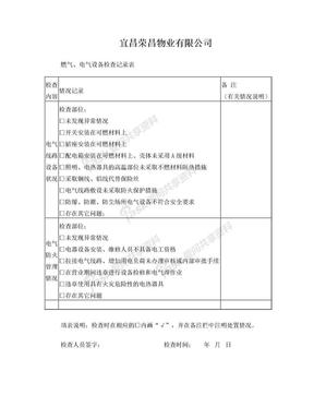03燃气、电气设备检查记录表.doc