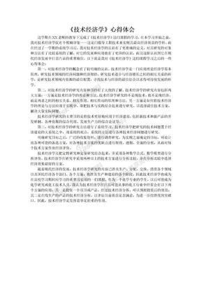 技术经济学心得体会.doc