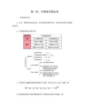 高一物理必修一第二章知识点及练习(带参考答案).doc