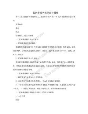 民间非盈利组织会计制度.doc