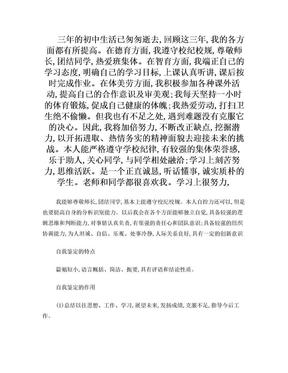 中考自评报告.doc