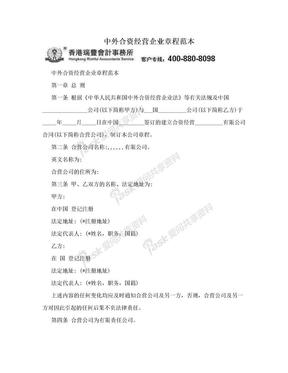 中外合资经营企业章程范本.doc