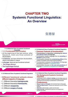 功能语言学课件verview_of_Systemic_Functional_Linguistics.ppt