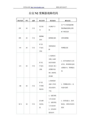 台安N2变频器故障代码.doc