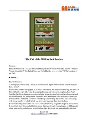 野性的呼唤 The Call of the Wild.pdf