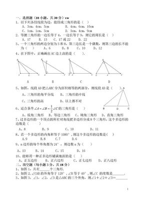 平面直角坐标系与三角形的讲义和习题