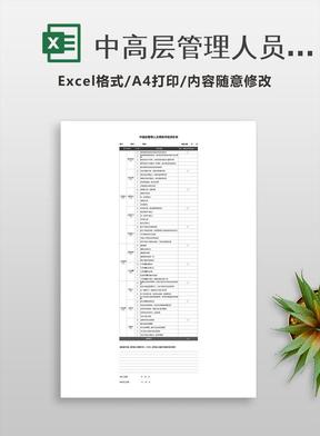 中高层管理人员绩效考核评价表.xlsx
