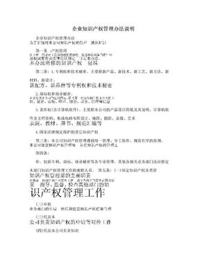 企业知识产权管理办法说明.doc