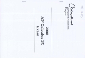 2008年AP calculus BC真题.pdf