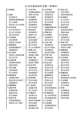 42式杨式太极剑动作分解.doc