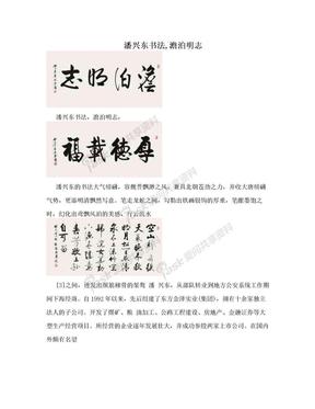 潘兴东书法,澹泊明志.doc