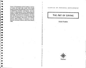 (Fromm)  The Art of Loving 爱的艺术.pdf