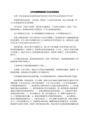 大学生假期电脑城打工社会实践报告.docx
