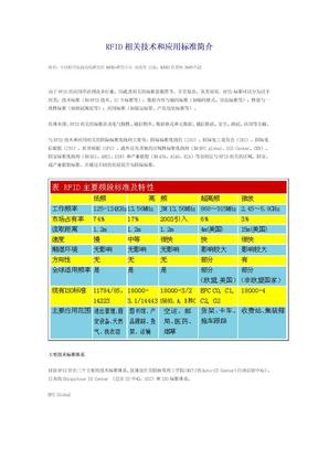 RFID相关技术和应用标准简介.doc