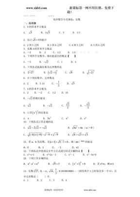 初中数学专项训练:实数.doc