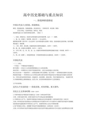 高中历史知识总结.pdf