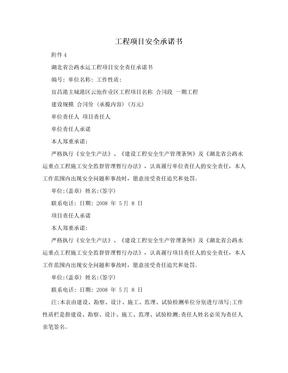 工程项目安全承诺书.doc