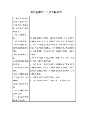 有限公司章程格式范本(北京市工商局).doc