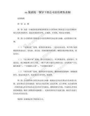XX集总经理负责制议事规则.doc