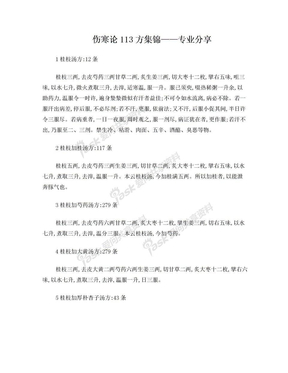 伤寒论113方金匮要略143方.doc