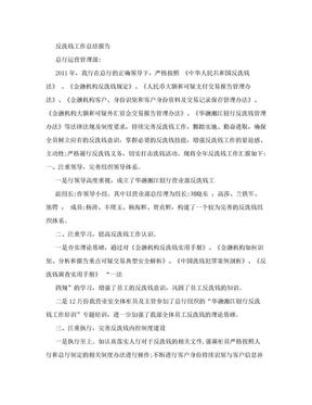 反洗钱工作总结报告.doc