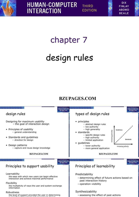 Chap-07 Design rules by Alan Dix,Janet Finlay, Abowd, Russell Beale.ppt