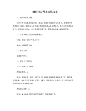 消防应急预案演练方案.doc