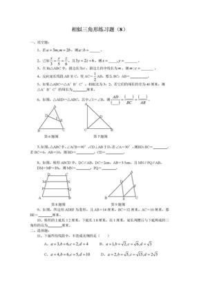 相似三角形练习题(8).doc